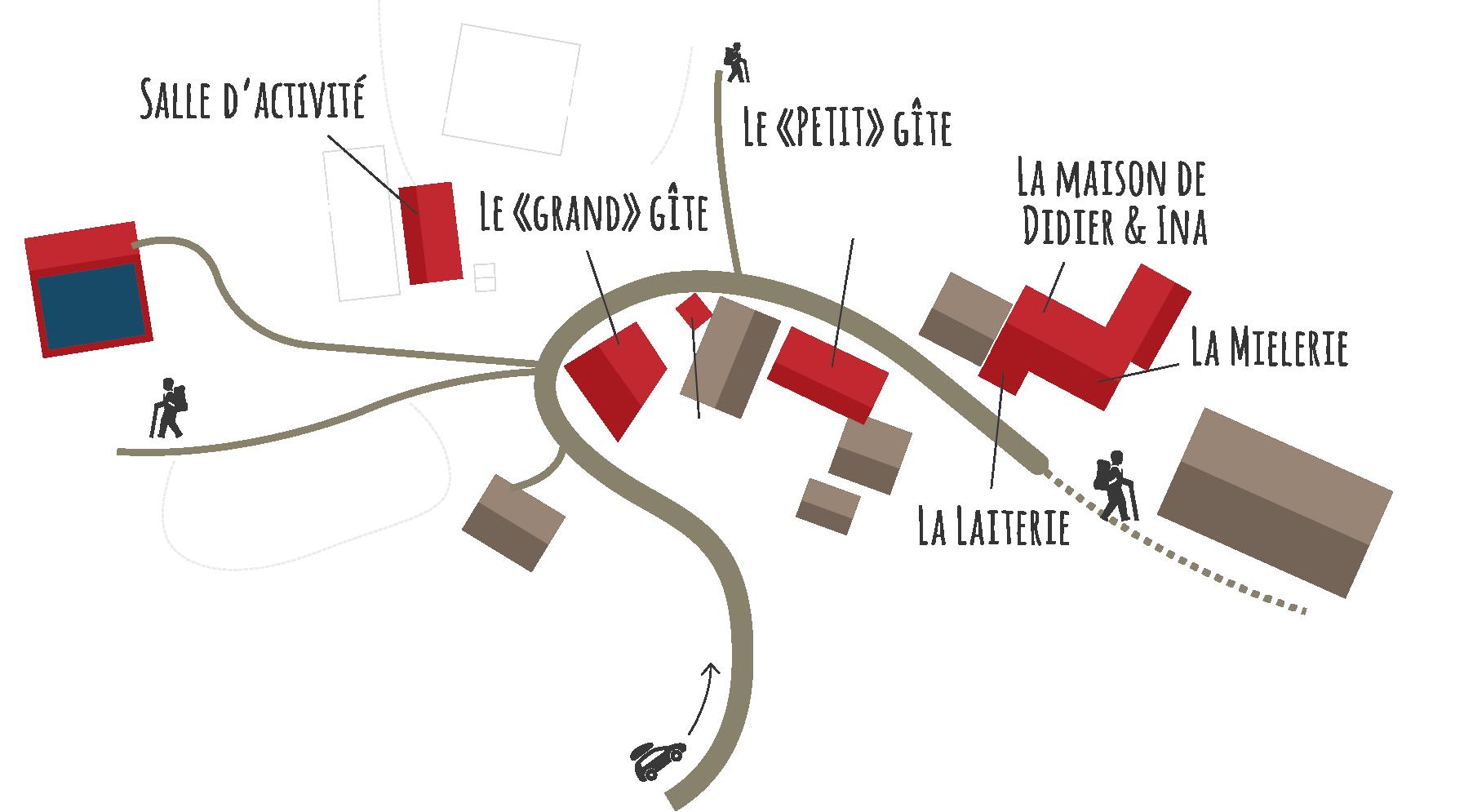 Plan 2D du hameau de Briandes