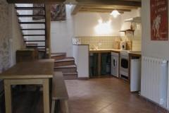 Gîtes de Briandes, Maison du Berger, cuisine americaine avec salle à manger