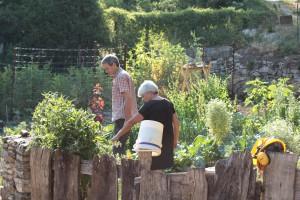 Ina et Didier im Garten